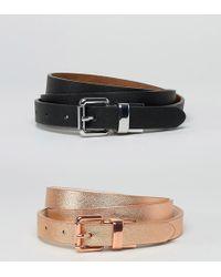 ASOS - 2 Pack Reversible Buckle Waist & Hip Belts - Lyst