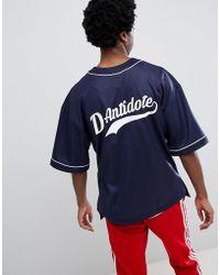 D-ANTIDOTE Oversized Baseball T-shirt With Logo - Black