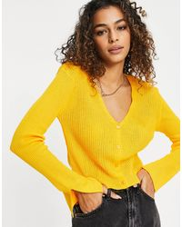 I Saw It First Split Sleeve Cardigan - Yellow