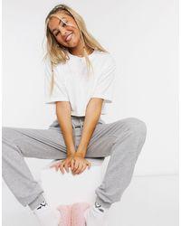 Juicy Couture Crop T-shirt Met Rechte Pasvorm En Grafisch Logo - Wit