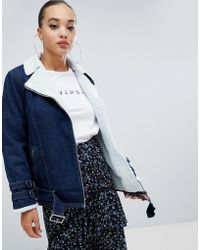 Missguided - Borg Lined Denim Jacket - Lyst