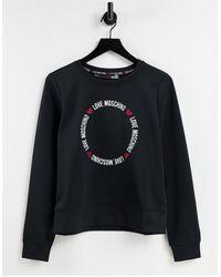 Love Moschino Черный Свитшот С Круглым Логотипом -черный Цвет