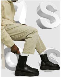 ASOS Черные Ботинки Челси Из Искусственной Кожи - Черный