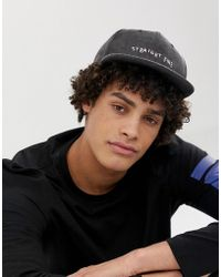 104ad2fec0638 ASOS - Snapback Cap In Grey With  straight Fire  Embroidery - Lyst