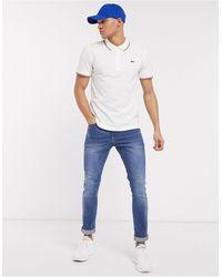 Lacoste Sport Lacoste - Polo con bordini a contrasto bianca - Bianco