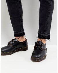Dr. Martens - Archive Ghillie Shoes In Black Smooth - Lyst