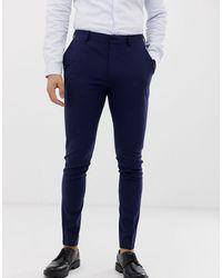 ASOS Super Skinny Smart Trousers - Blue