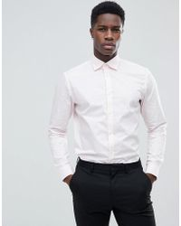 Esprit - Slim Fit Smart Shirt In Pink With Easy Iron - Lyst
