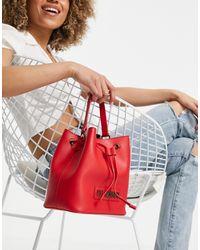 Love Moschino Красная Сумка-мешок С Логотипом -красный