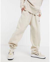 Nike Oversized joggingbroek Met Mini Swoosh - Naturel