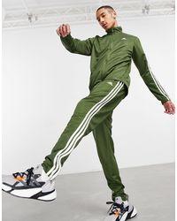 adidas Originals Adidas Training 3 Stripe Tiro Tracksuit - Green