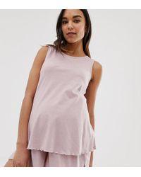 ASOS - Asos Design Maternity Mix & Match Marl Pyjama Jersey Tank - Lyst