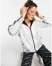 Love Moschino Куртка С Эффектом Металлик Серебристого Цвета С Капюшоном От Комплекта -серебристый