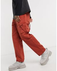 The Ragged Priest Utility Cargo Trousers - Orange