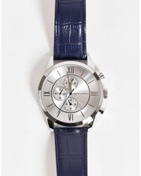 ASOS Classic Watch With Detail And Strap - Blue