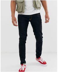 Nudie Jeans Nudie Skinny Lin Super Skinny Jeans Dry Deep Orange - Blue