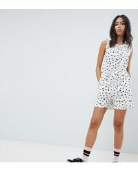Noisy May Tall - Polka Dot Playsuit - Lyst