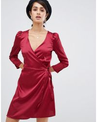 Girls On Film - Wrap Dress - Lyst