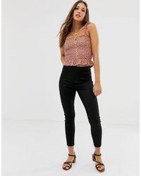 New Look Черные Моделирующие Джеггинсы -черный