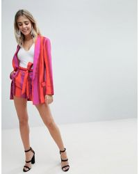 Missguided - Tailored Belted Short - Lyst