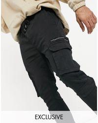 Good For Nothing Exclusivité ASOS - - Pantalon à poches cargo - Noir