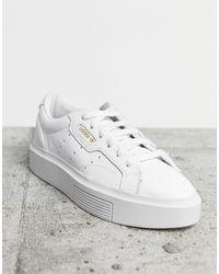 adidas Originals Zaptillas en blanco Super Sleek