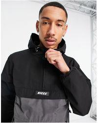 Nicce London Truss Half Zip Lightweight Jacket - Black