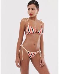 Y.A.S Stripe High Leg Bikini Bottom - Multicolour