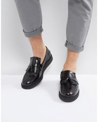 Fred Perry - X George Cox Leather Tassel Loafers Black - Lyst