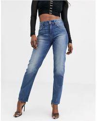 G-Star RAW 3301 - Jeans dritti vita alta anni '90 alla caviglia - Blu