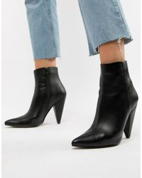 ASOS DESIGN - Erica Pointed Ankle Boots - Lyst