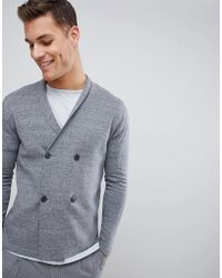 SELECTED - Double Breasted Cardigan - Lyst
