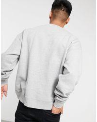 Good For Nothing Oversized Sweatshirt With Script Logo - Grey