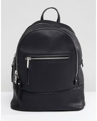 Mango - Zip Detail Backpack - Lyst