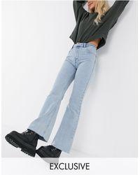 Reclaimed (vintage) Inspired - '86 - Jeans super svasati lavaggio stone wash chiaro - Blu