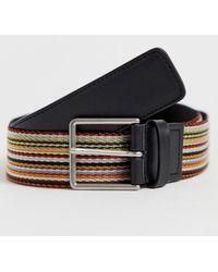 Paul Smith Cintura a reticolo classica a righe multicolore
