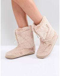 Bedroom Athletics - Marilyn Short Faux Fur Slipper Boot - Lyst