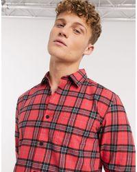 New Look Tartan Check Shirt - Red