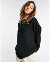 Free People Volume Sleeve Sweatshirt - Black