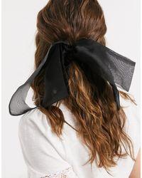 ASOS Foulard à cheveux avec nœud en organza - Noir