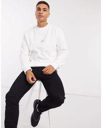 TOPMAN Signature Oversized Long Sleeve T-shirt - White