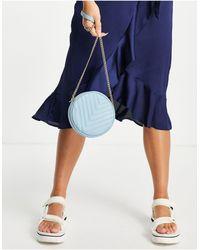 Truffle Collection Стеганая Круглая Сумка Через Плечо Голубого Цвета -голубой - Синий