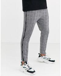 Good For Nothing - Pantalones ajustados con cuadros grises príncipe de Gales - Lyst