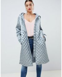 ASOS - Quilt Padded Satin Jacket - Lyst