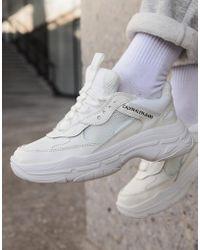Calvin Klein - Chunky sneakers blancas Maya - Lyst