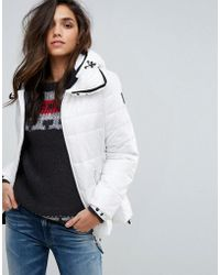 Replay - Padded Jacket With Hood - Lyst