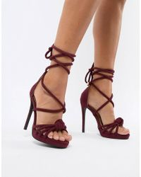 Missguided - Knotted Heeled Sandals - Lyst
