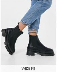 Raid Wide Fit - Черные Ботинки Челси На Массивной Подошве Для Широкой Стопы Turner-черный Цвет - Lyst