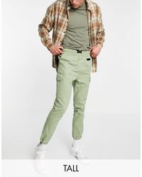 Another Influence Tall Cargo Trousers - Green