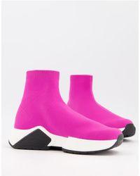 ASOS Розовые Кроссовки-носки - Розовый